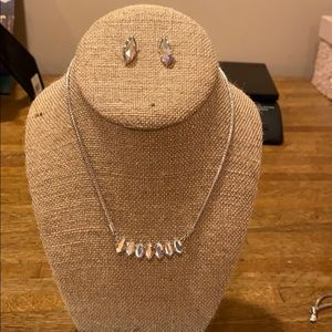 Swarovski Marquis necklace and earrings set